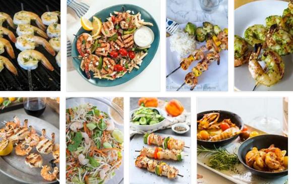 summer fresh shrimp kebabs