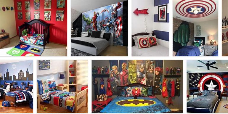 superheroes bedroom decor
